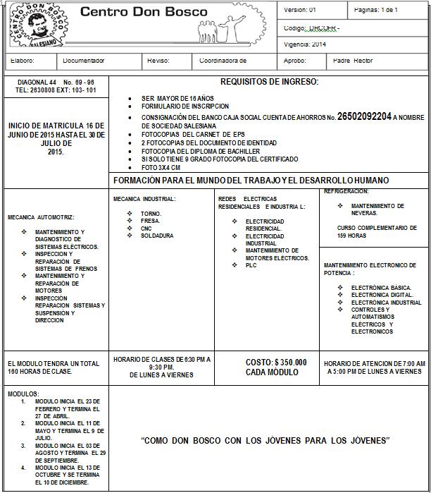 REQUISITOS DE INGRESO 1